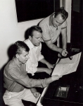 Hank Jones, Dean Kay (Thompson), and Larry Ray (Hayes) writing songs in the early 60's (several songs were published an