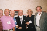 Friends over the years. L to R: Jim Smith, Al Branco, Wayne Re, Bob Arrigoni, old buddy Fred Yrueta and Larry Lindsey.