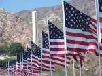 Peperdine University/Hwy. 101, near Malibu. Honor of 9/11. over 2800 flags it was awsome to see.