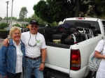 Carl & Connie Carlson loading their truck to transfer luggage from hotel to ship...